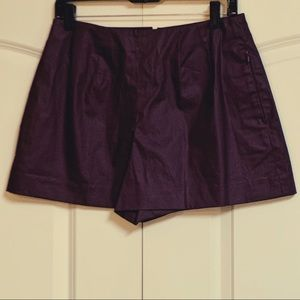 NWOT Kate Spade Plum Coated Hi Waist Shorts 6 28